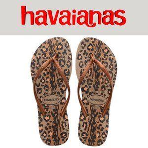 Havaianas Slim Leopard Print - Size 9/10
